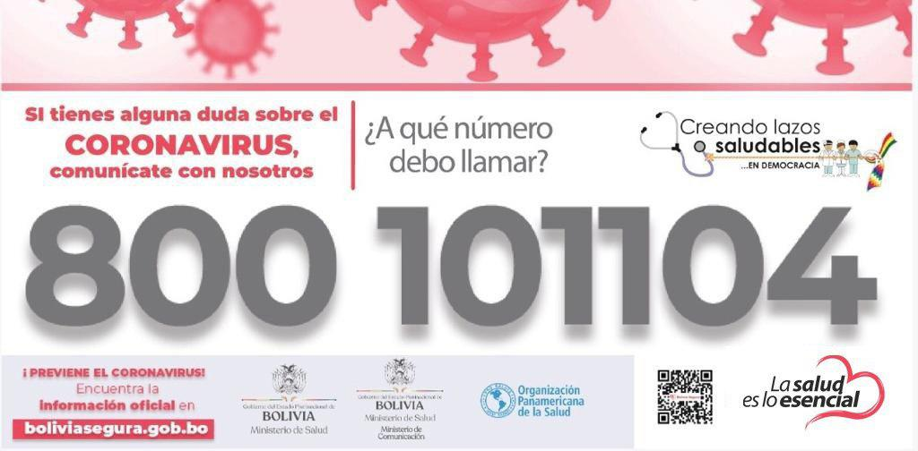 Resultado de imagen para call center coronavirus Bolivia