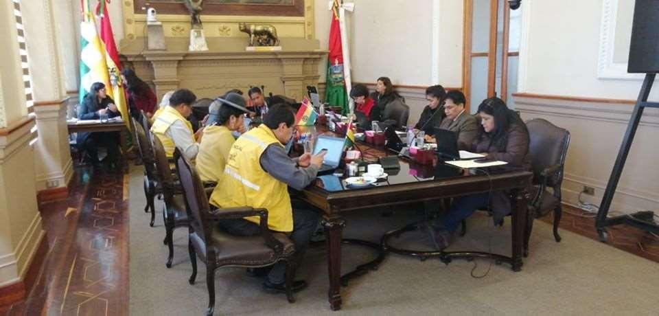 La sesión en el Concejo Municipal paceño I Foto: Facebook.
