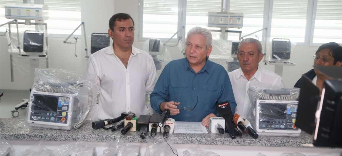 Costas visitó hoy el Hospital de tercer nivel de Montero y anticipó de que allí se podrá atender a pacientes con coronavirus