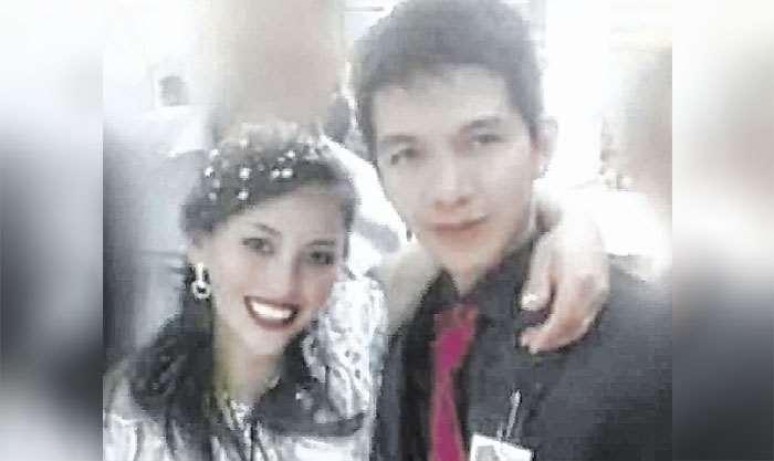 La pareja en el día de su boda