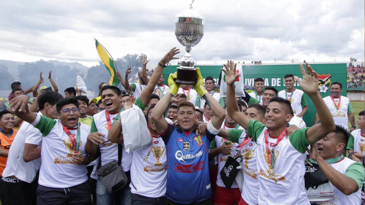 Jugadores de Palmaflor celebran el título de la más reciente Copa Simón bolívar. APG