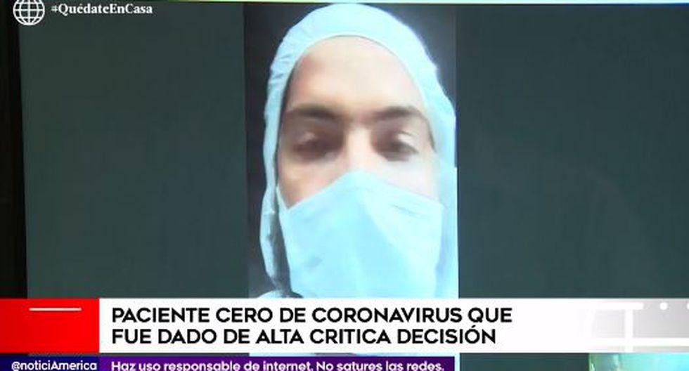 Paciente por coronavirus denuncia que le dieron de alta sin estar restablecido. (Captura)