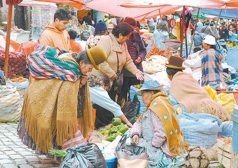 Resultado de imagen de mercados de bolivia