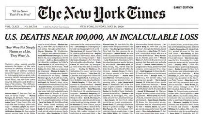 """""""Las muertes rozan los 100.000, son una pérdida incalculable"""""""