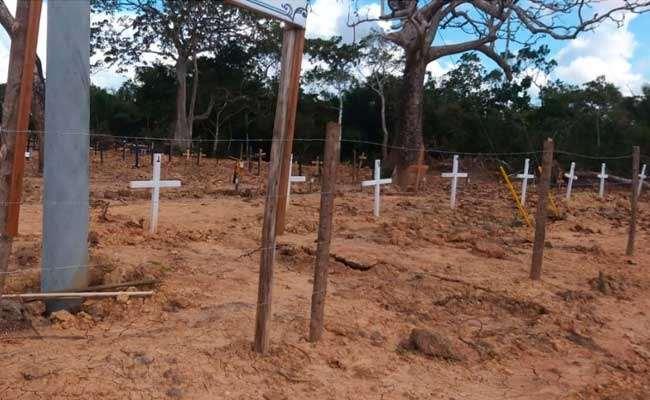 El cementerio Covid-19 en Trinidad. Foto Villan TV