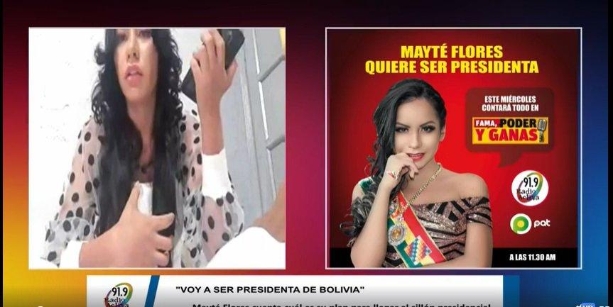 Mayté Flores: «Voy a ser presidenta de Bolivia»