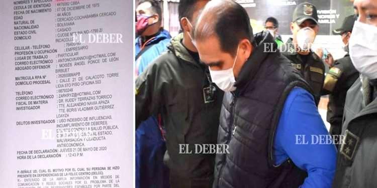 Caso respiradores: Humérez, el «testigo clave», intercambió llamadas telefónicas con Evo, Andrónico y Carlos Romero, entre enero y mayo