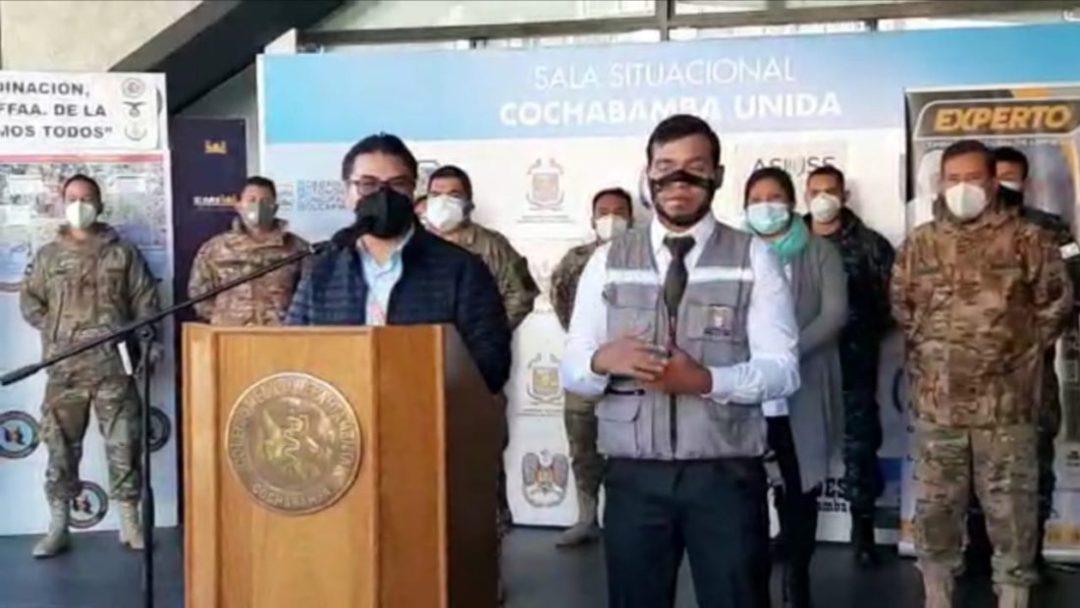 Rubén Castillo, jefe de Vigilancia Epidemiológica del Servicio Departamental de Salud (SEDES). Captura SEDES