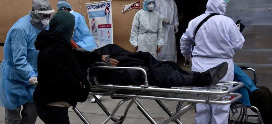 Un afectado por coronavirus. Foto: AFP