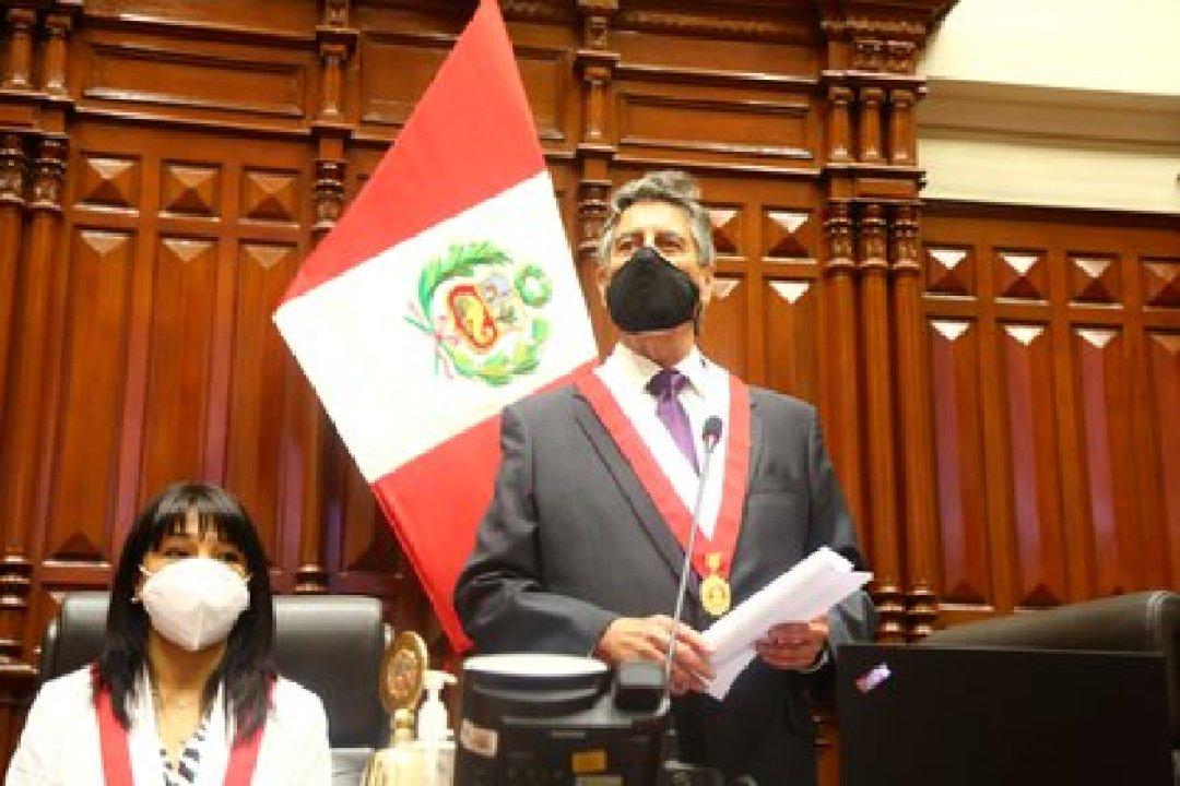 Francisco Sagasti es el nuevo presidente interino de Perú (Peruvian Congress/Handout via REUTERS)