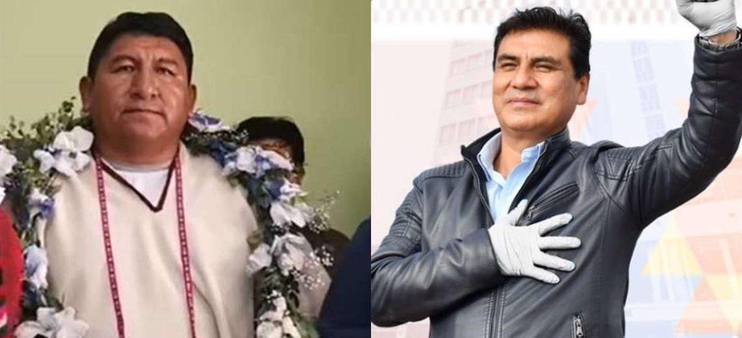 Jhonny Mamani (izq.) y Johnny Vedia, ambos del MAS son candidatos en Oruro y Potosí