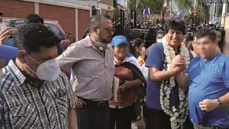 Inspector de la Policía escoltó a Evo cuando regresó en 2020