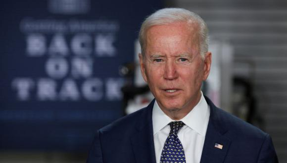 U.S. President Joe Biden delivers remarks during a visit at Tidewater Community College in Norfolk, Virginia, U.S. May 3, 2021. REUTERS/Jonathan Ernst