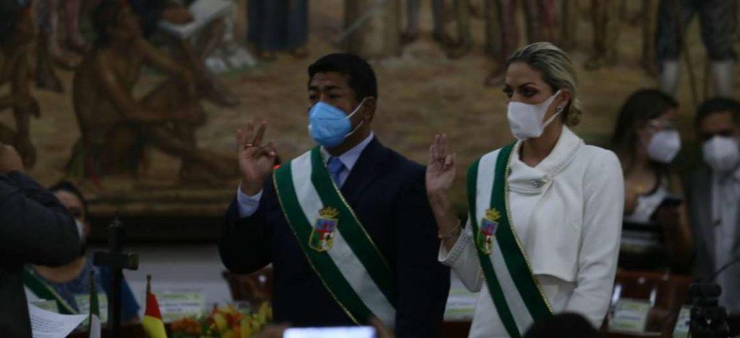 Foto Jorge Ibáñez: Israel Alcócer y Silvana Mucarzel juraron como presidente y secretaria
