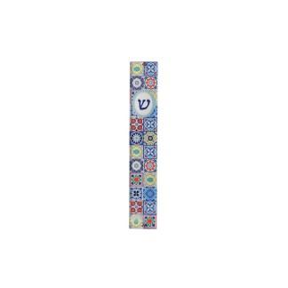 Mezouza Perspex Mosaique multicolore