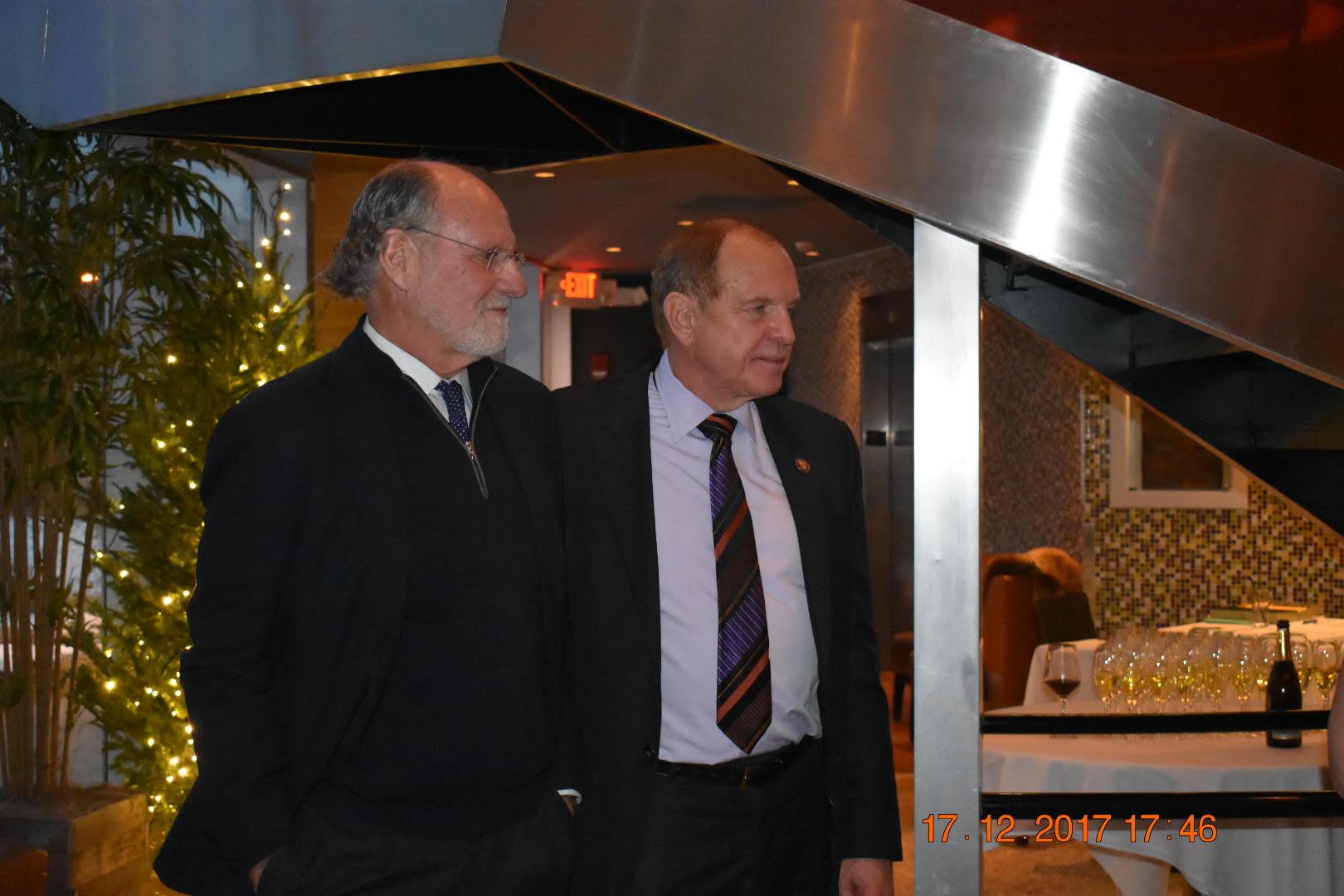 Former New Jersey Governor Jon Corzine and New Jersey State Senator Ray Lesniak