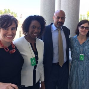 EJUSA staff at the White House with Administrative staff Roy Austen