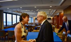 EJUSA Executive Director Shari Silberstein shares some final words with Judge Gibbons