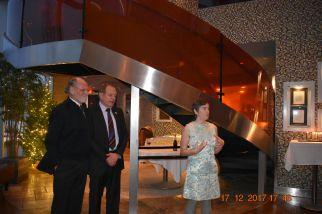 EJUSA Executive Director Shari Silberstein recognizes former Governor Jon Corzine and Senator Ray Lesniak