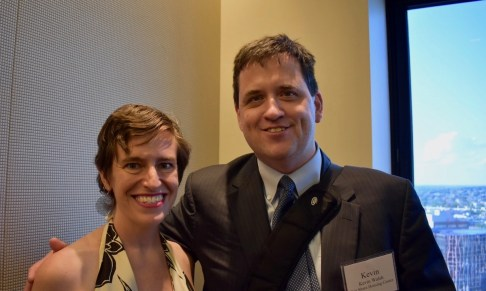 EJUSA Executive Director Shari Silberstein with Kevin Walsh, who served with the Judge on the Executive Committee of New Jerseyans for Alternatives to the Death Penalty