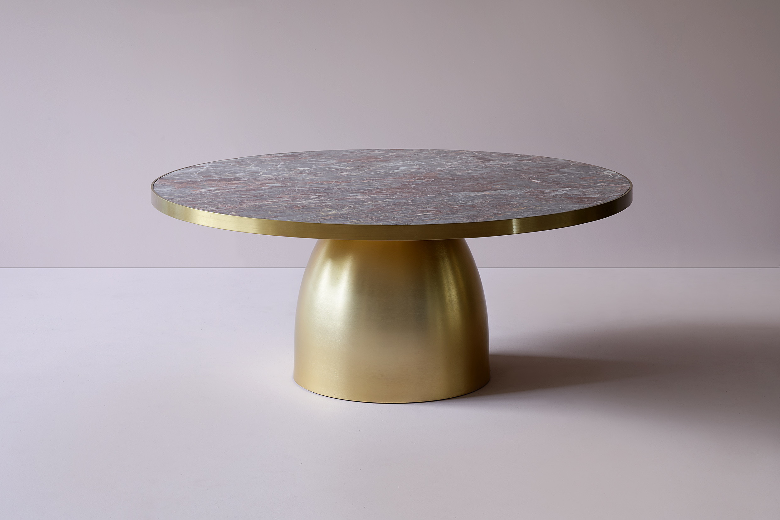 lustre round marble coffee table 48