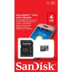 SANDISK MEMORY CARD 4GB.