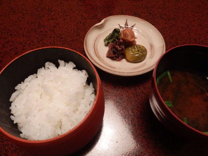 岩惣 夕食 ご飯 味噌汁