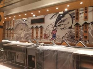 中国で展開するがってん寿司さんの店舗内装