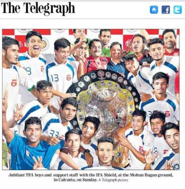 "Content of LG IFA SHIELD (U-19) Tournament 2015-16 published in media 07.03.2016 on ""Times Of India"", ""Telegraph"", ""Anandabazar Patrika"", ""Ei Samay"", ""Pratidin"", ""Bartaman"", ""Aajkaal""."