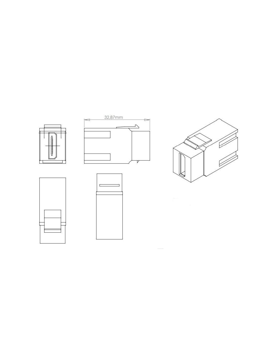 Conector Hdmi Hembra Tipo Keystone Para Paneles Y Roseta