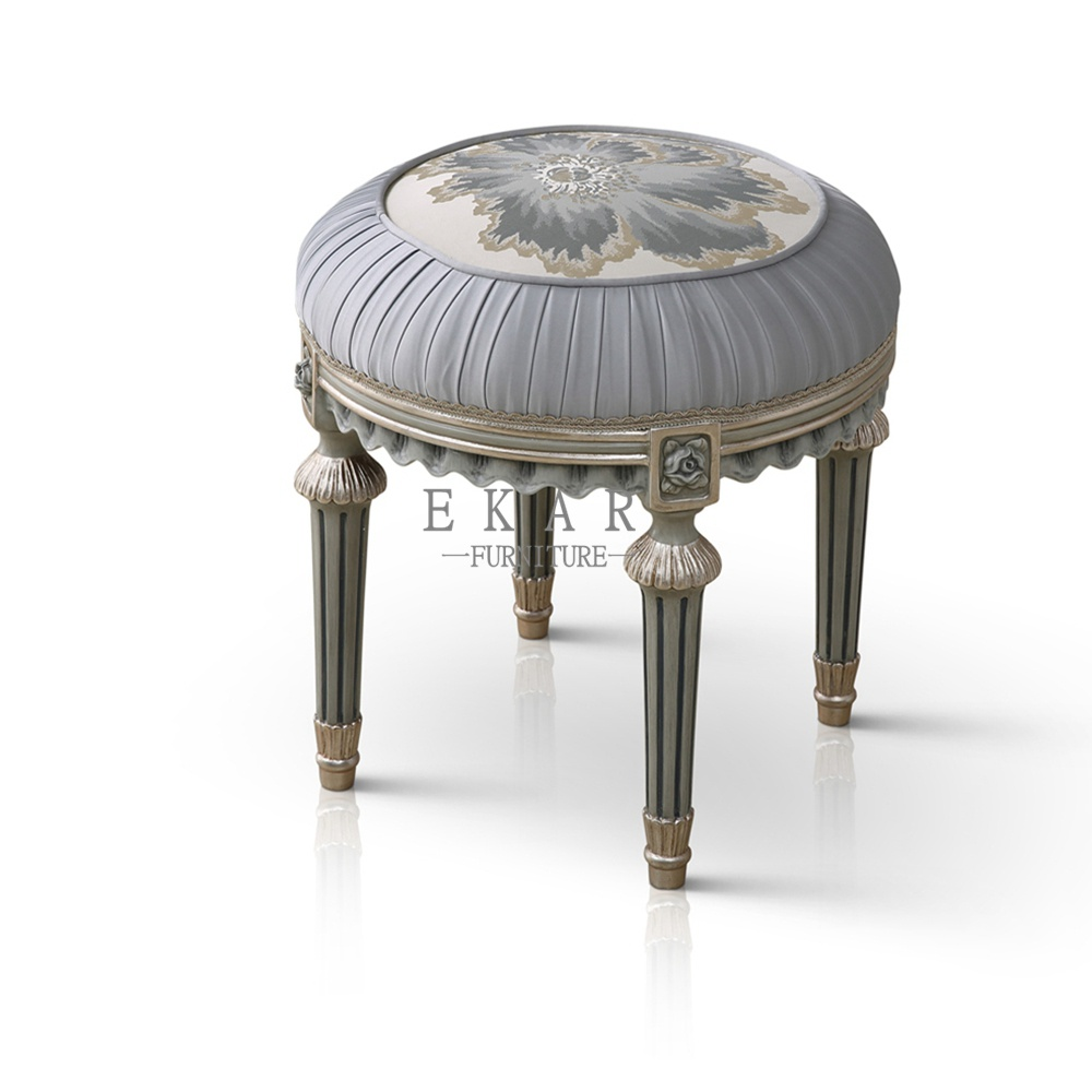 Small Stool Chair Small Round Grey Bedroom Furniture Dressing Stools Vanity Chair