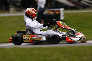 Gavin Reichelt scored a win and a second place podium result in Mont-Tremblant during his first weekend in the Rotax DD2 category (Photo: PSL Karting)
