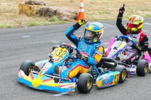 Trenton Sparks and Sting Ray Robb split the victories in Mini Max, with both earning a ticket to the Invitational at NOLA (Photo: Sean Buur / Can-Am Karting Challenge)