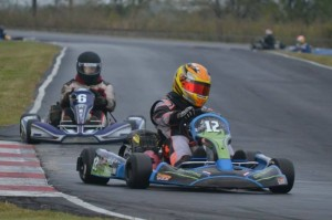 Mitch McKie pulled double duty and drove to two Texas 500 wins as a part of Miiler Motorsports in shifter, and Team Core Karting in Yamaha (Photo: Carly Crowe)