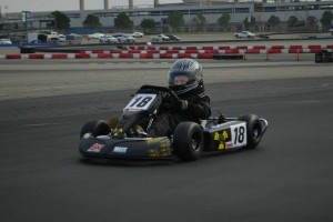Kid Kart Honda winner Copper Hicks in action at CalSpeed (Photo: LAKC.org)