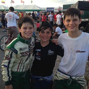 The top three drivers in the TaG Cadet championship included a pair from Team Koene USA (Photo: KoeneUSA.com)