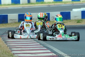 Dylan Tavella is the early championship leader in Mini Rok Cadet, scoring both feature wins on the weekend (Photo: DavidLeePhoto.com)