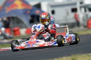 Nicholas Brueckner finished third in Sunday's main event at the Superkarts! USA SpringNationals (Photo: On Track Promotions - otp.ca)