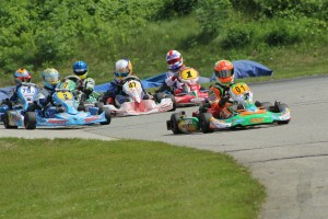 Brandon Lemke held off a group of drivers for the Yamaha Junior victory