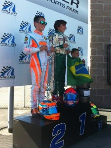 Frederick drove to two podium finishes at Miller Motorsports Park (Photo: Pilot ONE Racing)
