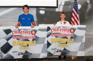 SuperPole winner Thomas Issa and Sting Ray Robb (Photo: Ken Johnson - Studio52.us)