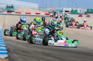 Anthony Ganig Jr. goes to the front of the Junior Max field on Saturday with two heat wins (Photo: Ken Johnson - Studio52.us)