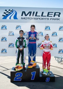 Austin looks to return to the top step of the podium at Miller Motorsports Park next weekend, looking to claim his first US Rotax Grand Nationals title (Photo: Ken Johnson - Studio52.us)