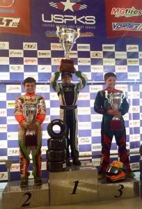 Tavella topped the championship blocks in both Mini ROK and Yamaha Cadet for the 2014 USPKS series  (Photo: DylanTavella.com)