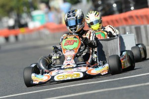 Five-time world karting champion Davide Fore placed third overall in the S1 Pro Stock Moto division, earning his first podium of the season (Photo: On Track Promotions - otp.ca)