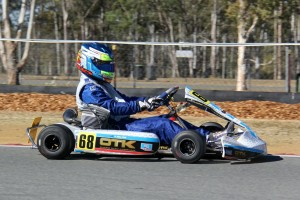 Kris Walton behind the wheel of a kart powered by the IAME 100cc Reedjet engine