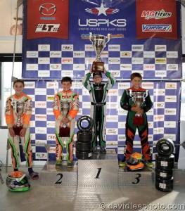 Yamaha Cadet championship podium (Photo: DavidLeePhoto.com)