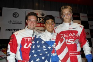 Correa was part of the three Team USA drivers to reach the podium in 2013, along with Joey Wimsett and Oliver Askew (Photo: Ken Johnson - Studio52.us)
