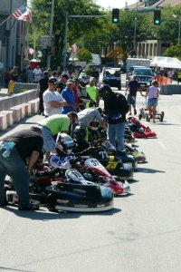 The Briggs LO206 Masters field on grid for the start of the Main Event (Photo: Mark Enderlein)