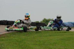 Kalish racing against karting veteran Kevin Nelson (Photo: EKN)